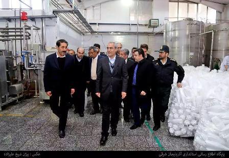 بازدید استاندار آذربایجان شرقی از شهرک صنعتی سراب