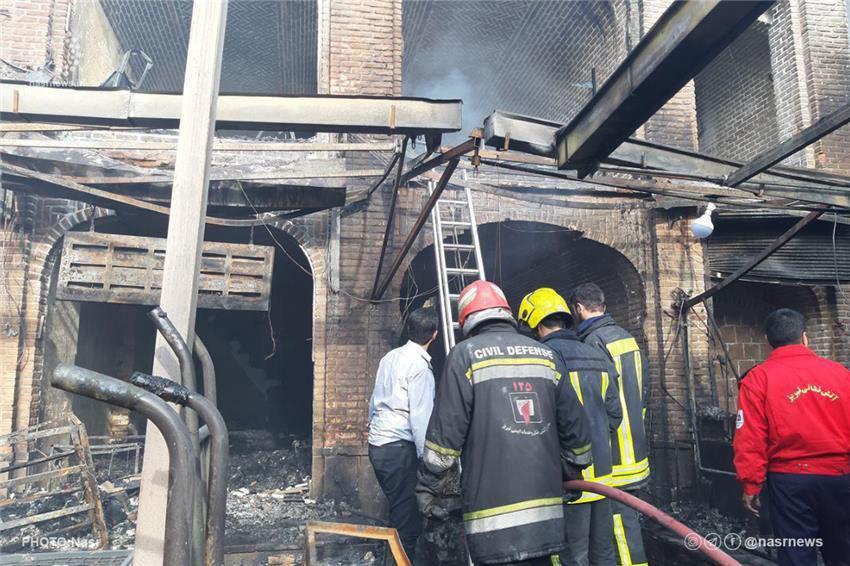 علت حادثه آتشسوزی بازار تبریز و میزان خسارات در دست بررسی